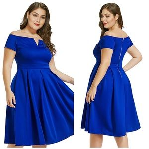 NEW Lalagen off the shoulder cocktail swing dress